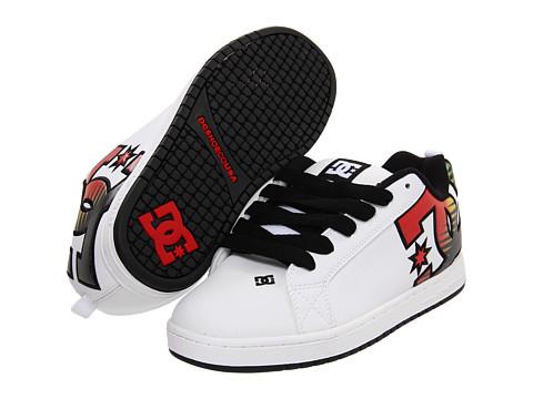 Adidasi DC - Court Graffik SE - White/Rasta