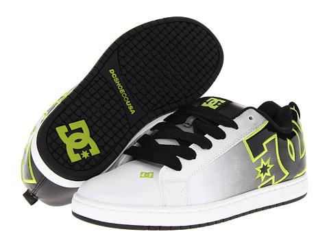 Adidasi DC - Court Graffik SE - White/Black/Soft Lime