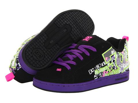 Adidasi DC - Court Graffik SE W - Black/Fluorescent Purple