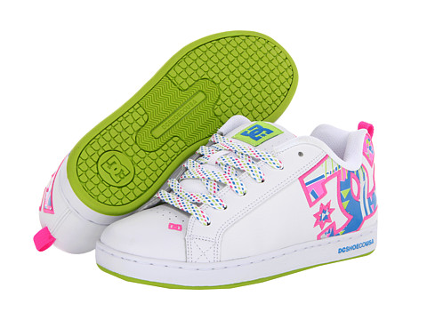 Adidasi DC - Court Graffik SE W - White/Crazy Pink/Citrus