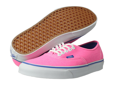 """Adidasi Vans - Authenticâ""""¢ - (Washed Twill) Pink/Palace Blue"""