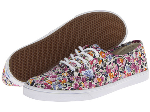 "Adidasi Vans - Authenticâ""¢ Lo Pro - (Floral) Violet/True White"