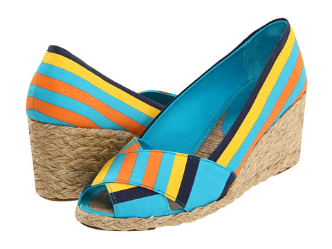 Pantofi LAUREN Ralph Lauren - Cecilia - Striped Blue Canvas