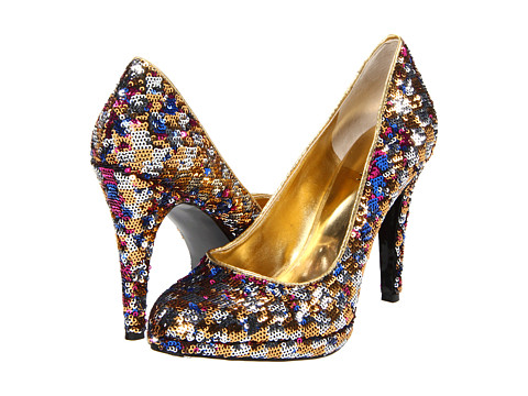 Pantofi Nine West - Rocha - Gold Multi/Gold Fabric