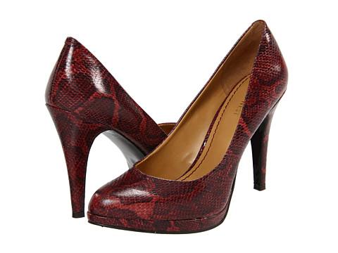 Pantofi Nine West - Rocha - Red Multi Synthetic Reptile