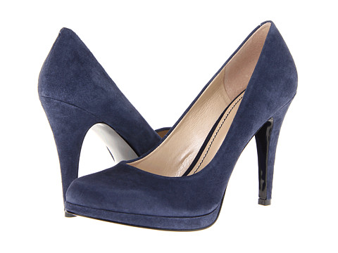 Pantofi Nine West - Rocha - Dark Blue Suede