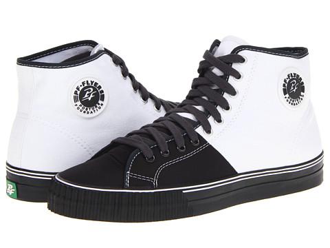 Adidasi PF Flyers - Center Hi - Black/White/Canvas/Nylon