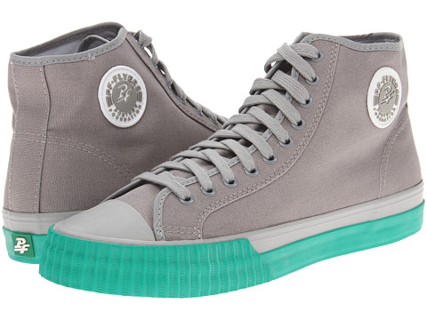 Adidasi PF Flyers - Center Hi - Grey/Mint Leaf Canvas