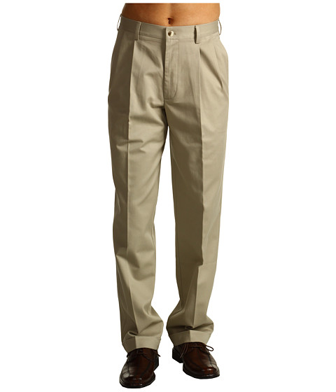 Pantaloni IZOD - Wrinkle Free American Chino Double Pleat - Khaki