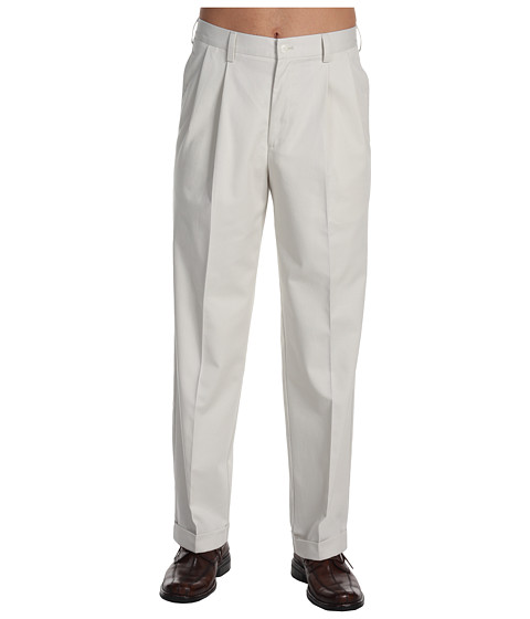 Pantaloni IZOD - Wrinkle Free American Chino Double Pleat - Pumice