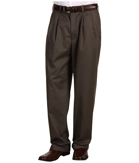 Pantaloni IZOD - Wrinkle Free American Chino Double Pleat - Olive
