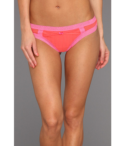 Lenjerie Betsey Johnson - Zipper Stripe Lo-Rise Wide Side Thong - Sunkissed