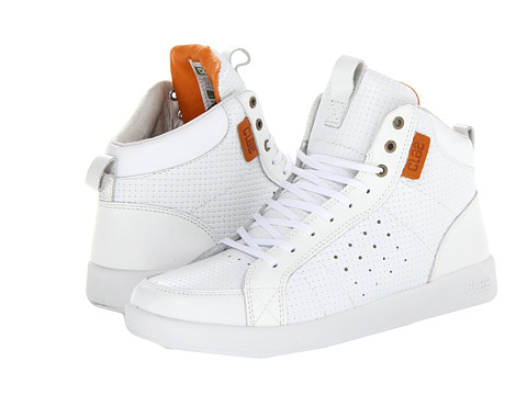 Adidasi Clae - Russell - White Embossed Leather