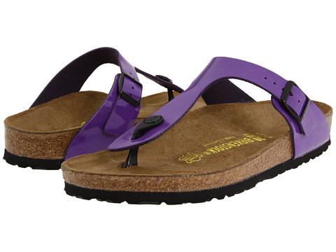 Sandale Birkenstock - Gizeh Birko-Flor⢠- Deep Purple Patent Birko-Florâ¢