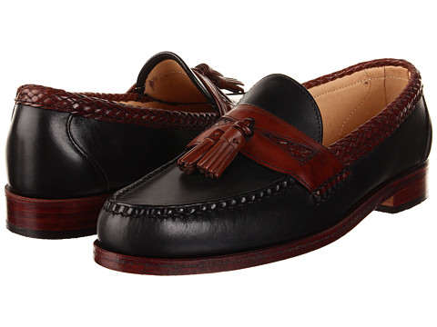 Pantofi Allen-Edmonds - Maxfield - Black Calf/Mahogany Burnished Calf