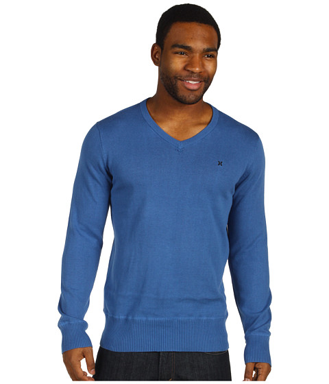 Bluze Hurley - One & Only V-Neck Sweater - Pacific Blue