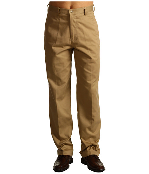 Pantaloni IZOD - Wrinkle Free American Chino Flat Front - English Khaki