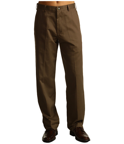Pantaloni IZOD - Wrinkle Free American Chino Flat Front - Decaf Coffee