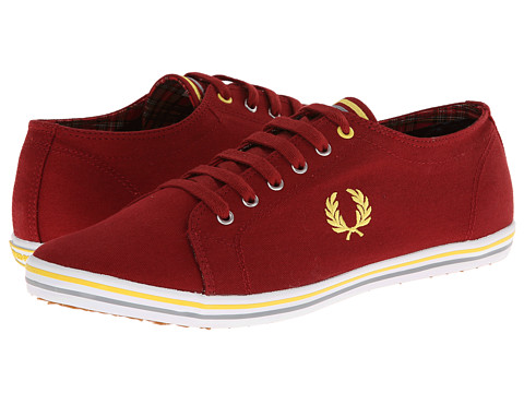 Poza Adidasi Fred Perry - Kingston Twill Tipped - Rich Red/Super Lemon