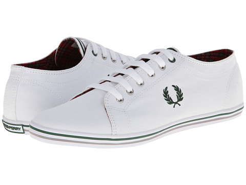 Adidasi Fred Perry - Kingston Twill Tipped - White
