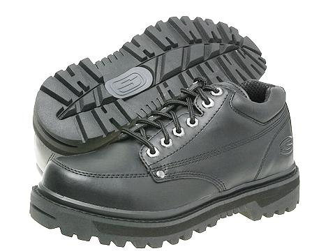 Ghete SKECHERS - Mariner - Black Oily Leather