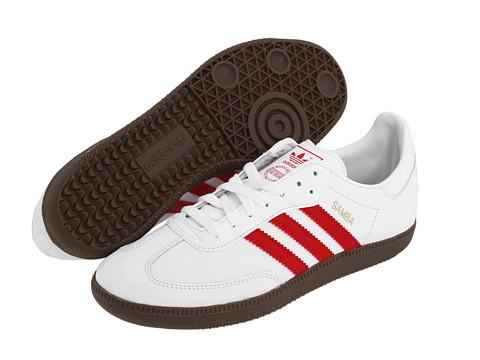 Adidasi Adidas Originals - Sambaî Leather - White/Light Scarlet/Gum