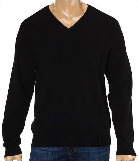 Bluze Fitzwell - Garett Clubhouse V-Neck Sweater - Black