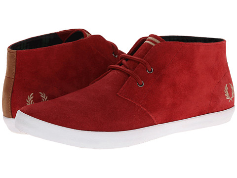 Adidasi Fred Perry - Byron Mid Suede - Rich Red/Warm Stone
