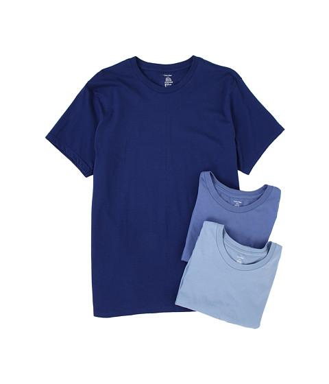 Tricouri Calvin Klein - Classic S/S Crew Three-Pack U9001 - Blue Depths/Water Reflection/Boardwalk Blue