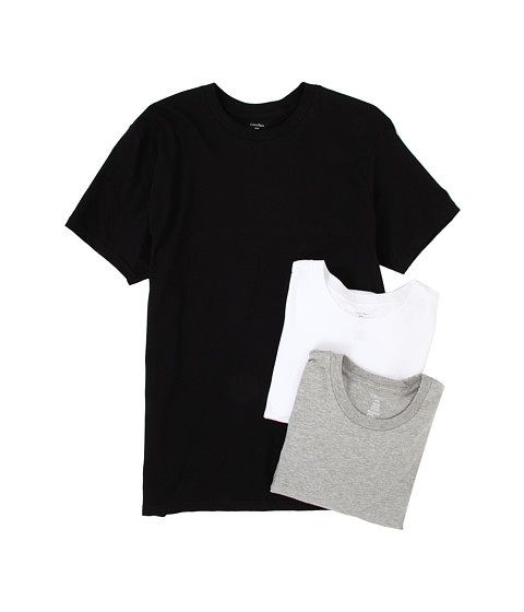 Tricouri Calvin Klein - Classic S/S Crew Three-Pack U9001 - White/Black/Heather Grey