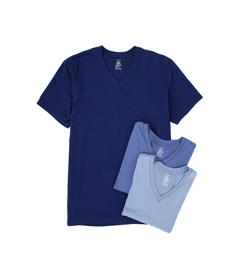 Tricouri Calvin Klein - Classic S/S V-Neck 3-Pack M9065 - Blue Depths/Water Reflection/Boardwalk Blue