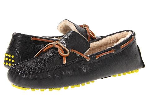 Pantofi Cole Haan - Air Grant - Black Grain/Shearling