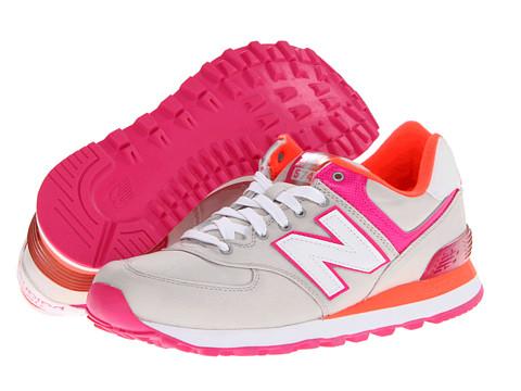 Adidasi New Balance - W574 - Grey/Pink/Orange