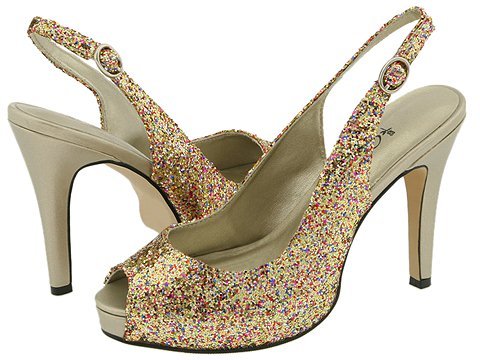 Pantofi Coloriffics - Gala - Gold/Multi-Colored Glitter