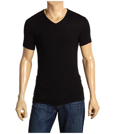 Tricouri Calvin Klein - Body Micro Modal S/S V-Neck U5563 - Black