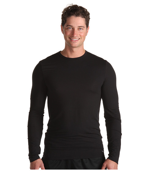 Tricouri Calvin Klein - Micro Modal Sleepwear L/S Crew - Black