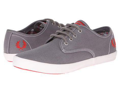 Adidasi Fred Perry - Foxx Twill - Steel/Red
