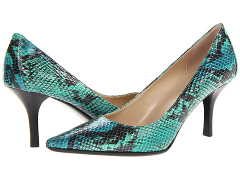 Pantofi Calvin Klein - Dolly - Cobalt Blue/Green Two Tone Snake