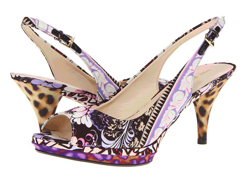Pantofi Nine West - Sharina - Black Print Combo Fabric
