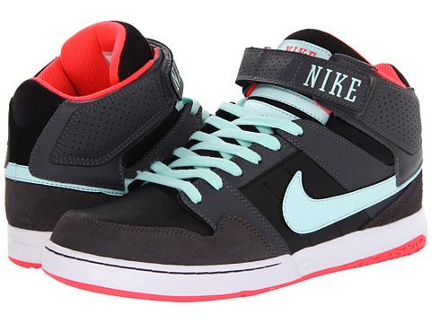 Adidasi Nike - Zoom Mogan Mid 2 - Black/Dark Grey/Atomic Red/Teal Tint