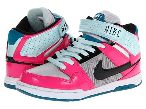 Adidasi Nike - Mogan Mid 2 - Metallic Platinum/Tropical Teal/Pink Foil/Black