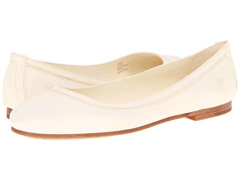 Balerini Frye - Carson Ballet - Off White Antique Soft Full Grain