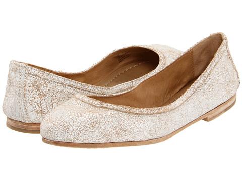 Balerini Frye - Carson Ballet - White Cracked Leather