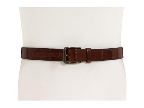 Curele Allen-Edmonds - Panel Stitched Belt - Brown