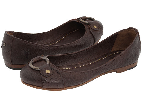 Balerini Frye - Carson Harness Ballet - Dark Brown Leather