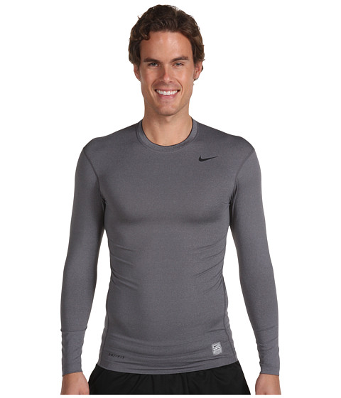 Bluze Nike - Pro Core Tight Long-Sleeve Shirt - Carbon Heather/(Black)