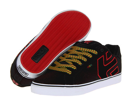 Adidasi etnies - Fader Vulc - Black/Red/Black (Canvas)