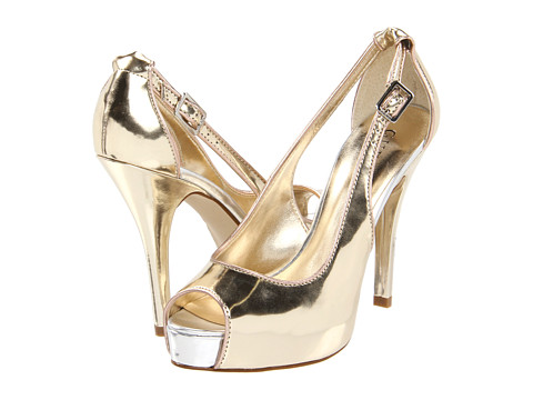 Pantofi GUESS - Hondola - Platino/Gold/Mushroom