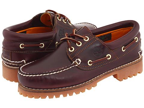 Pantofi Timberland - Traditional Handsewn 3-Eyelet Classic Lug - Burgundy Smooth Leather