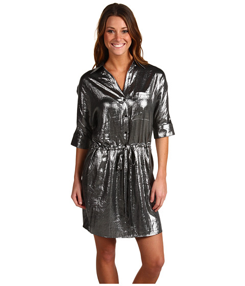 Rochii BCBGMAXAZRIA - Shiny Shirt Dress - Gunmetal
